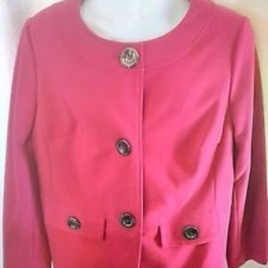 JM Collection Fuscia Pink Blazer Size 1X